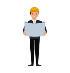 Engineer cartoon icon vector