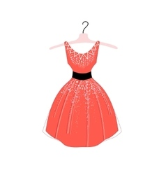Fashionable dress vector