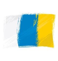 Grunge canary islands flag vector