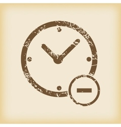 Grungy reduce time icon vector