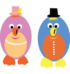 happy eggs vector image