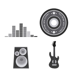 Icon set electro party and music design vector