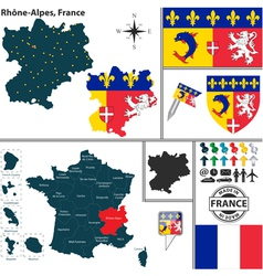 Map of rhone alpes vector