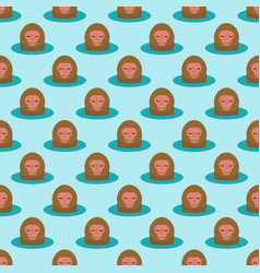 monkey head character seamless pattern background vector image vector image
