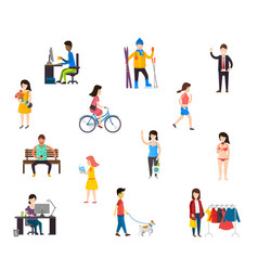 People in various lifestyles vector