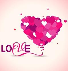 Pink love hearts vector image