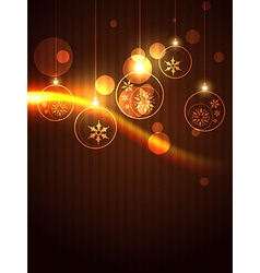 Shiny christmas background vector