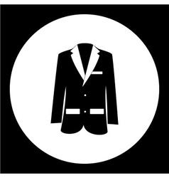 Simple modern jacket suit black icon eps10 vector