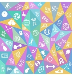 Sport icons background vector image