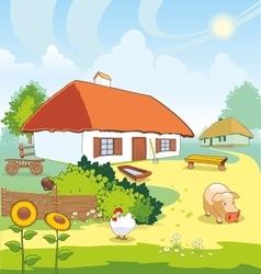 Ukrainian village vector image vector image