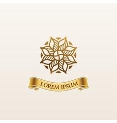 Vintage luxury gold emblem elegant vector