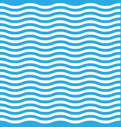 Wavy line seamless pattern in blue and white vector