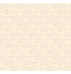 White bricks seamless texture vector image
