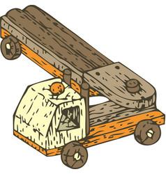 Wooden auto truck vector