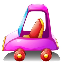 A pink toy car vector