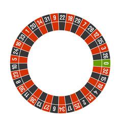 Roulette casino wheel template with zero on white vector