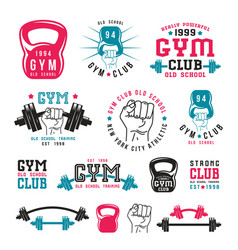 Gym club emblems vector