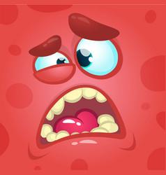 Cartoon screaming monster face vector