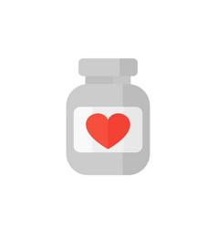 Bottle of pills icon on white vector