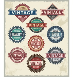 Set of retro vintage badge and label design set vector
