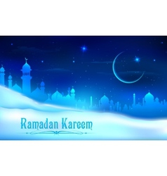 Ramadan kareem generous ramadan background vector