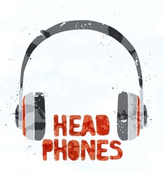 Headphones from multi-colored spots vector