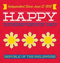 Philippines Independence Day card in format vector image