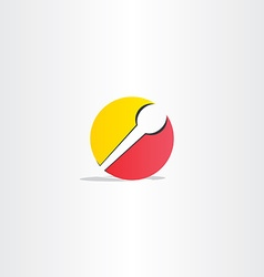 Yellow red microphone symbol vector