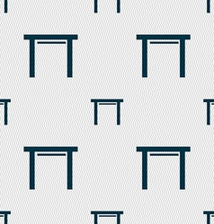 Stool seat icon sign seamless abstract background vector