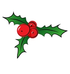 Sketch of christmas holly berry vector