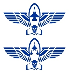 Icons of military aviation vector