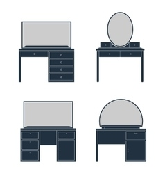 A dressing table vector