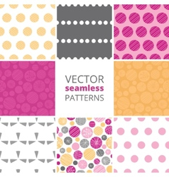 Abstract textured bubbles set of eight vector