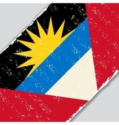 Antigua and barbuda grunge flag vector