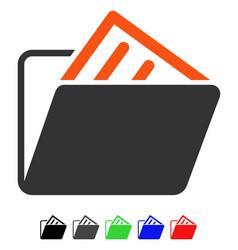 Document folder flat icon vector