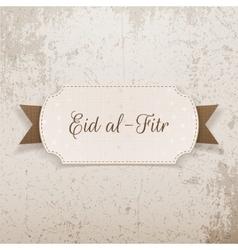 Eid al-fitr realistic greeting banner vector