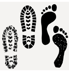 Footprint shoes print vector image