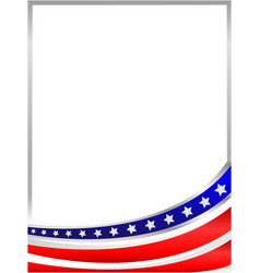 frame with an abstraction of the us flag vector image