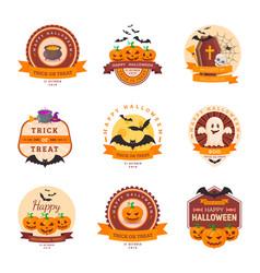 Halloween party badge design vector