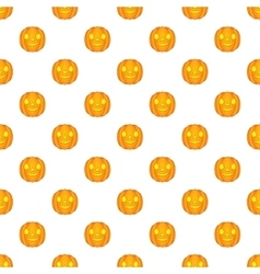 Halloween pumpkin pattern cartoon style vector