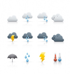 Icon set weather and climate vector
