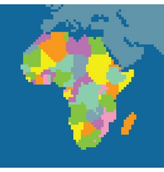 pixel map of africa vector image vector image