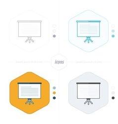 presentation icon 4 design vector image