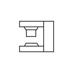 Press machine icon vector