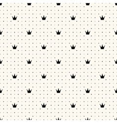 seamless crown retro pattern vector image