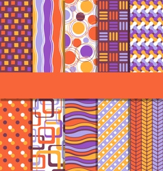 Set of 10 seamless bright abstract patterns vector image
