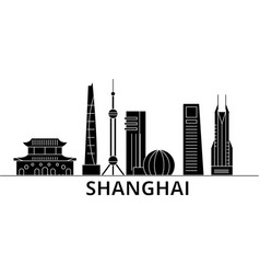 shanghai architecture city skyline travel vector image vector image