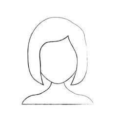 Sleeping woman avatar icon vector