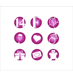Valentines day 14 February icon vector image