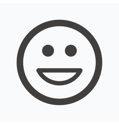 Happy smile icon smiley laugh emoticon sign vector